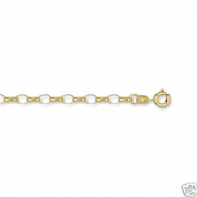 "24""61cm 4mm thick 9ct Gold Open Link Belcher Chain 6.5g"